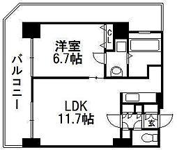 北海道札幌市中央区南三条東2丁目の賃貸マンションの間取り