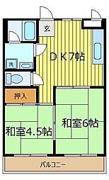 ユートピアII[2階]の間取り
