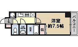 大阪府大阪市西区川口2丁目の賃貸マンションの間取り