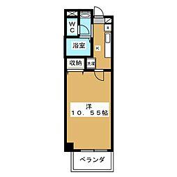 エターナル高辻[2階]の間取り