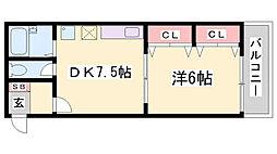 アソテア神戸[2階]の間取り