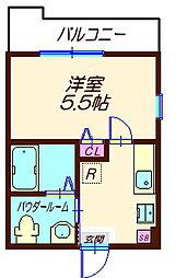 ハーミットクラブハウス六角橋IIIB棟(仮)[3階]の間取り