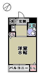 サニーコート新在家[3階]の間取り