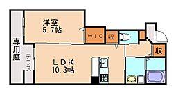仮)篠栗町尾仲新築アパート[1階]の間取り