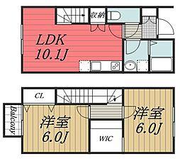 [タウンハウス] 千葉県千葉市中央区蘇我4丁目 の賃貸【/】の間取り