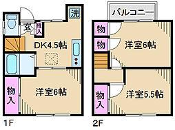 [一戸建] 東京都足立区新田1丁目 の賃貸【/】の間取り