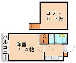フローリスコート[1階]の間取り