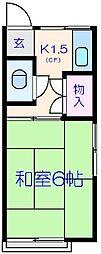 市川荘[203号室]の間取り
