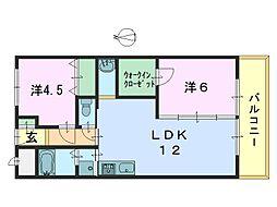 市役所前三和マンション[202号室]の間取り