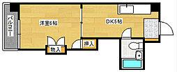 レジデンス西蟹屋[703号室]の間取り