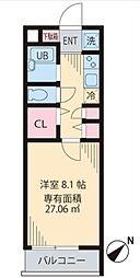 フェリーチェ高円寺[2階]の間取り