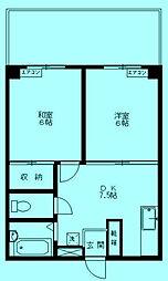 メゾン柳田[1階]の間取り