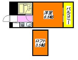 メゾン・寺田 201号室[2階]の間取り