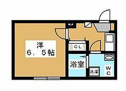 小田急小田原線 町田駅 徒歩8分の賃貸アパート 3階1Kの間取り
