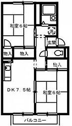 ファミール桃の郷 A棟[2階]の間取り