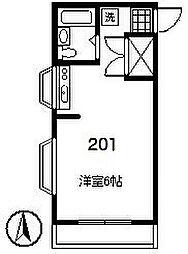 ハウス原田[2階]の間取り
