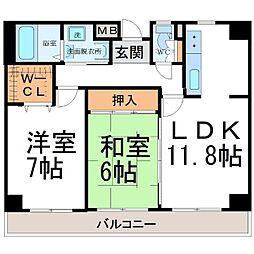 フェリーチェ尼崎[2階]の間取り