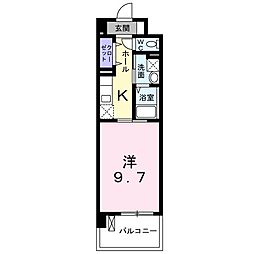 JR川越線 西大宮駅 徒歩1分の賃貸マンション 5階1Kの間取り