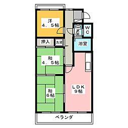 佐鳴台グリーンフラッツ[2階]の間取り