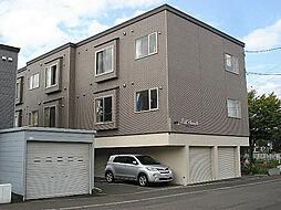 北海道札幌市東区北五十一条東7丁目の賃貸アパートの外観