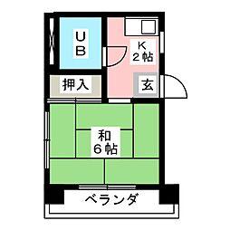 岡田ビル[3階]の間取り
