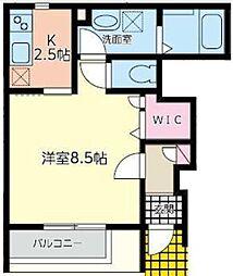 ハーモニーコート1[1階]の間取り