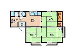 稲井ハイツ[2階]の間取り