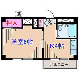 妙蓮寺フラッツ[2階]の間取り