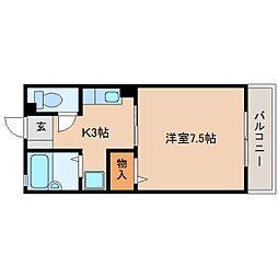 静岡県静岡市葵区川合の賃貸アパートの間取り