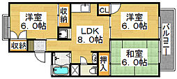 ファミール陵南 B棟[1階]の間取り