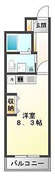 レジュールアッシュ江坂[3階]の間取り