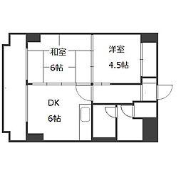 さんぱちBLDII[4階]の間取り