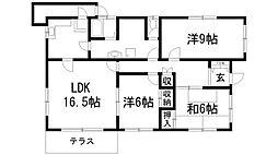 [一戸建] 兵庫県川西市清和台東1丁目 の賃貸【/】の間取り