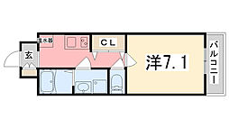 Capital.i姫路[714号室]の間取り