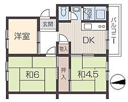 姫路市川団地[1階]の間取り
