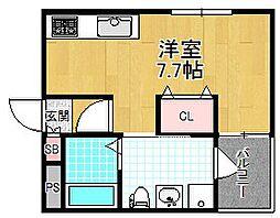 シャンテー宮之阪[2階]の間取り