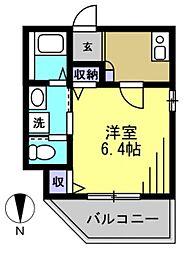 仮)矢口1丁目アパート[201kk号室]の間取り