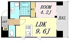 第26関根マンション 5階1LDKの間取り