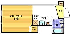 ヴェール横浜[315号室]の間取り