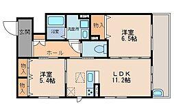 (仮称)シャーメゾン鍋島[1階]の間取り