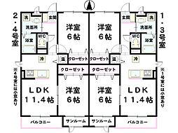 L&A240[3階]の間取り