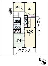 エミネンス覚王山[1階]の間取り