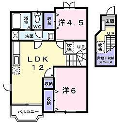 マーベラス T−I[2階]の間取り