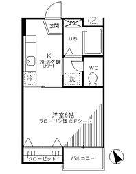 シーサイドコーポ[1階]の間取り