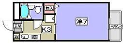 ドミール牧野[1階]の間取り