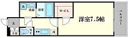 エスプレイスOSAKAベイシティ 2階1Kの間取り