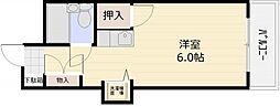グランデール横川[7階]の間取り
