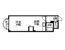 ウィングス札幌[2階]の間取り