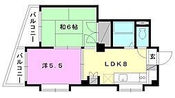 福音寺マンション[201 号室号室]の間取り