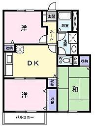 JR予讃線 宇多津駅 徒歩11分の賃貸アパート 1階3DKの間取り
